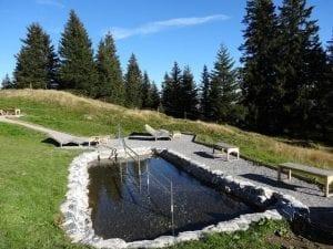 Kneippanlage und Barfussweg Bad Ragaz - Wassertretanlage Pizol
