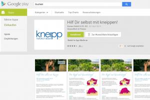 """App """"Hilf Dir selbst mit Kneippen"""" – jetzt verfügbar. Hier downloaden beim Schweizer Kneippverband"""